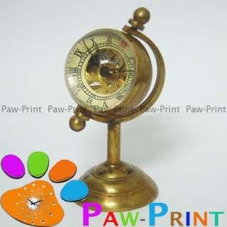 Brass Copper Skeleton Mechanical DESK Pocket Watch Clock NEW