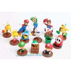 high quality pvc 13 super mario bros luigi action figures