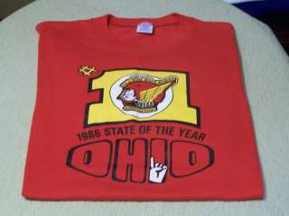 GOLD WING ROAD RIDERS 1986 GWRRA Ohio MOTORCYCLE Shirt