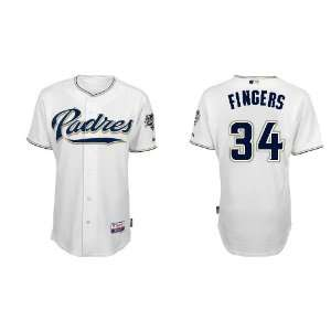Wholesale San Diego Padres 34# Fingers Grey 2011 MLB Authentic Jerseys