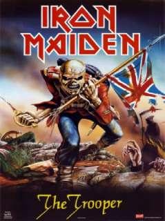 Iron Maiden The Trooper Rock Roll CD Music t shirt