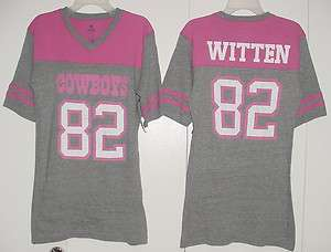 NWT JASON WITTEN 82 Made By Dallas Cowboys Fitted T SHIRT Jersey New