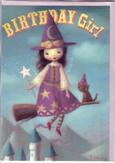 FAIRY BIRTHDAY Cards by Stephen Mackey WITCH Set of 3