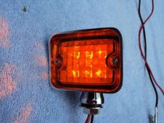 12 Volt Amber LED Park & Turn Signal Lights Hot Rod Rat