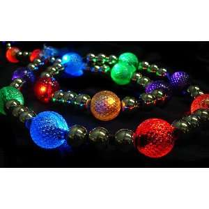 com GKI 6 Lighted LED Multi Color Beaded Christmas Garland 20 Lights