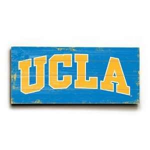 University of California Los Angeles, UCLA Wood Sign