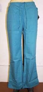 NWT Dickies SANDWASHED 51201 FLARE Leg 4 pocket Drawstring Scrub Pant