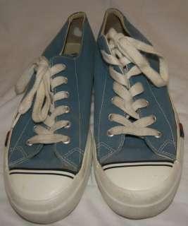 Vintage Light Blue Pro Keds Sneakers Shoes Mens 9.5 Canvas
