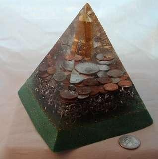 Custom Orgone Pyramid Money Prosperity gold Chi $$$