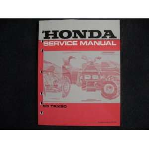 Honda 1993 TRX90 TRX 90 New Original Factory Service Manual Honda