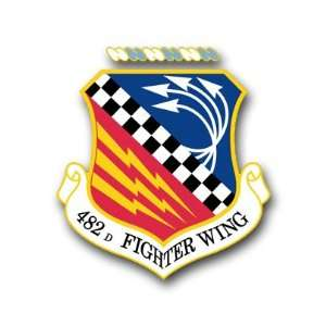 US Air Force 482nd Fighter Wing Decal Sticker 3.8 6 Pack