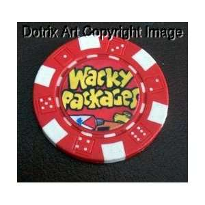 Wacky Packages RED Las Vegas Casino Poker Chip lim ed