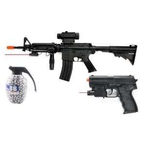 AEG M4A1 Assault Rifle FPS 200 Foregrip, Laser, Flashlight Airsoft