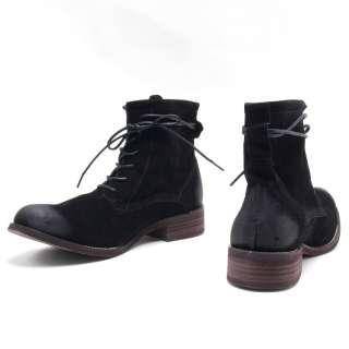 Manly H 709 Vintage Slim Lace Up Mens Ankle Walker Boots Black US