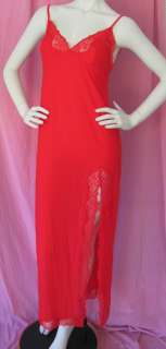 NwT Victorias Secret Sexy Red Valentine High Side Slit Long Gown