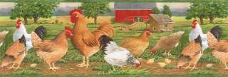 COUNTRY(CHICKEN FARM,ROOSTER) Wallpaper Border AFR7107