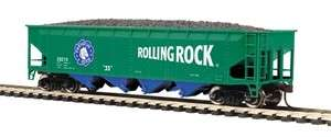 Ton Quadruple Hopper Car   Rolling Rock Beer HO Scale 81 75004