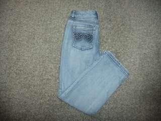 White House Black Market Blanc Womens Denim Jean Capri Size 4