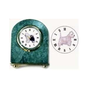 West Highland Terrier Marble Arch Clock, 2.5 Inches Tall   Westie