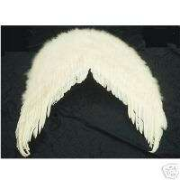 NEW Giant White Costume FEATHER ANGEL WINGS fairy nymph