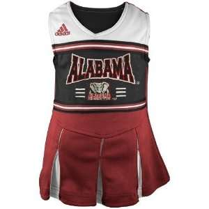 com adidas Alabama Crimson Tide Crimson Toddler Two Piece Cheerleader