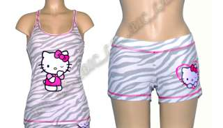 Hello Kitty Sleepwear Tank Top Shorts Pajama S M L XL