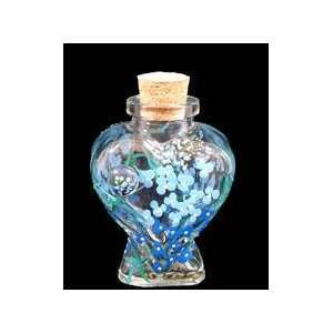Painted   Large Heart Shaped Bottle with Cork top   6 oz.   4.5 tall