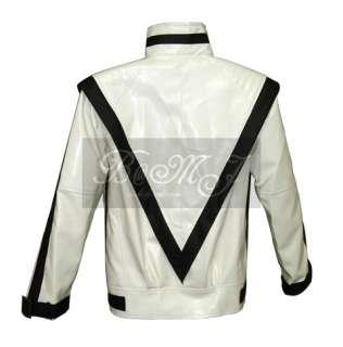 MJ THRILLER RARE WHITE Jacket Sz S/M/L/XL/XXL/3XL
