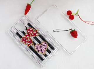 Bling Diamond Bowknot Full Hard Case Cover For Samsung Infuse 4G I997