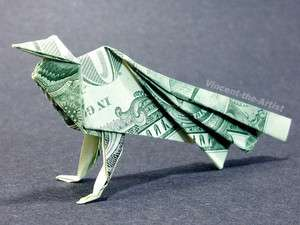 Dollar Bill Money Origami PEACOCK   Great Gift Idea Animal from Real