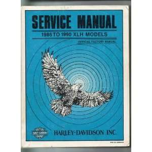 Service Manual 1986 to 1990 XLH Models: Harley Davidson: Books