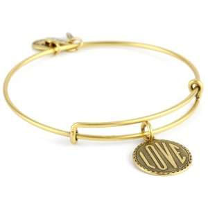 Alex and Ani Bangle Bar Love Expandable Wire in Russian Gold Bangle