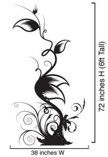 Vinyl Wall Decal Sticker Floral Leaves Swirls #322 6ft