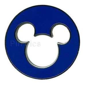 Disney Pin ~ Mickey Mouse Head & Ears Icon Cut Out ~NEW