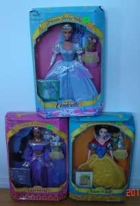 Princess Stories Disney Barbie~Cinderella~Snow White~