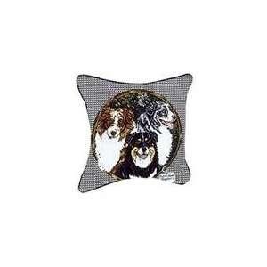 Australian Shepherd Dog Animal Decorative Throw Pillow 17