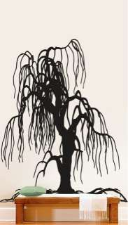 Vinyl Wall Decal Sticker Weeping Willow Tree Decor