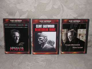 Clint Eastwood ABSOLUTE POWER / TRUE CRIME + 3 DVD Lot