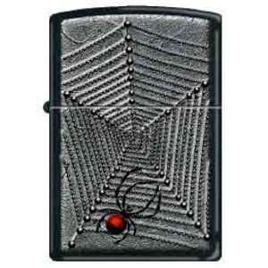 Zippo Custom Lighter   Black Widow Spider w/ Web RARE