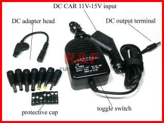 New 90W UNIVERSAL LAPTOP CAR CHARGER DC power adapter