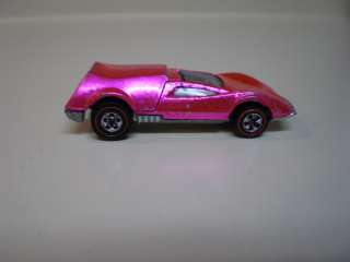 1970 Red Line Hot Wheel  TRI BABY  HOT PINK / USA!