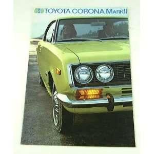 1971 71 Toyota CORONA MARK II BROCHURE Sedan Hardtop