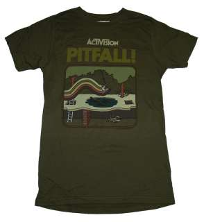 Pitfall Activision Atari Cover Retro Gaming Soft T Shirt Tee