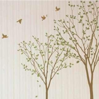 GREEN TREE & BIRD Graphic Vinyl Wall Sticker Decal