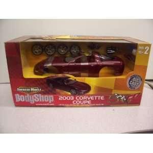 #3784 Ertl American Muscle Body Shop 2003 Corvette Coupe 1