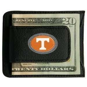 Tennessee Volunteers Black Leather Card Holder & Money