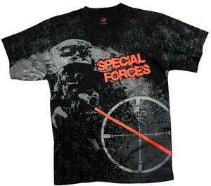 US Army Military Special Forces Vintage Graphic Art T Shirt