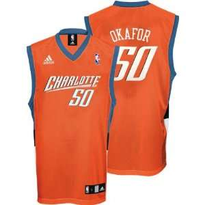 ... Emeka Okafor Jersey  adidas Orange Replica  50 Charlotte Bobcats  Kemba  Walker ... d6a5b793b