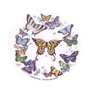 Nene Thomas   Ring of Vividly Colored Butterflies   Sticker / Decal