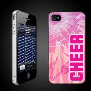 Cheerleading Theme iPhone Hard Case Tye Dye Pink Cheer